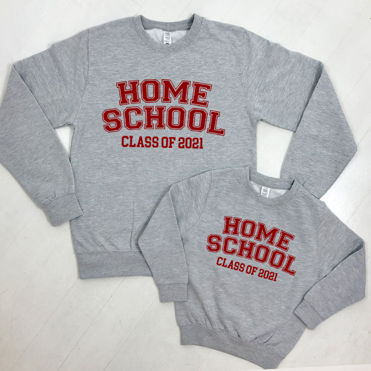 Matching Home School Class Of 2021 Sweater (MRK X)