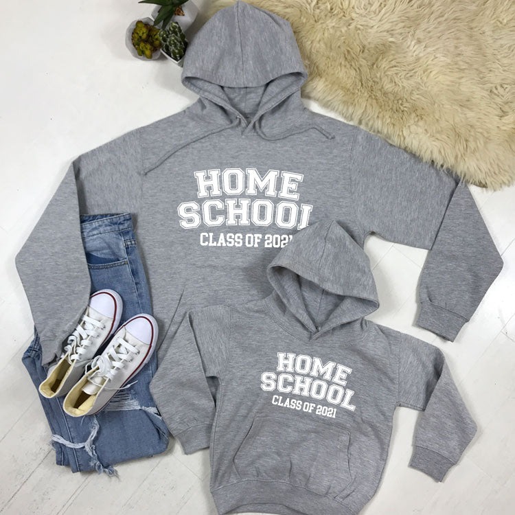 Matching Home School Class Of 2021 Hoodies (MRK X)