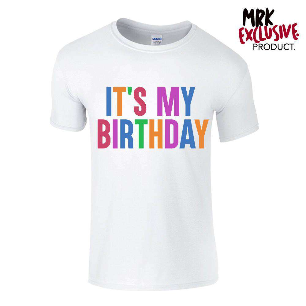 It's My Birthday Adult & Kid White Tee's (MRK X)