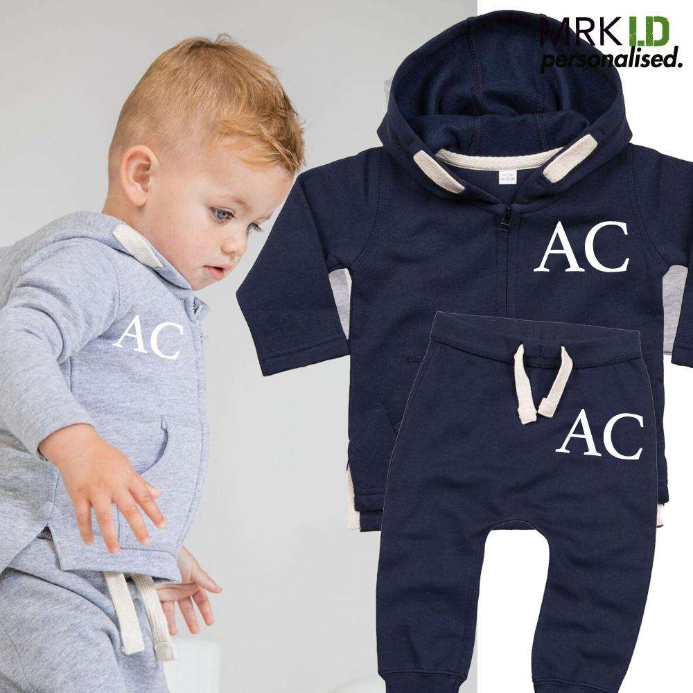 Personalised Infant Zip Hoodie & Pant Tracksuit Set (6m-3 Years) (MRK X)