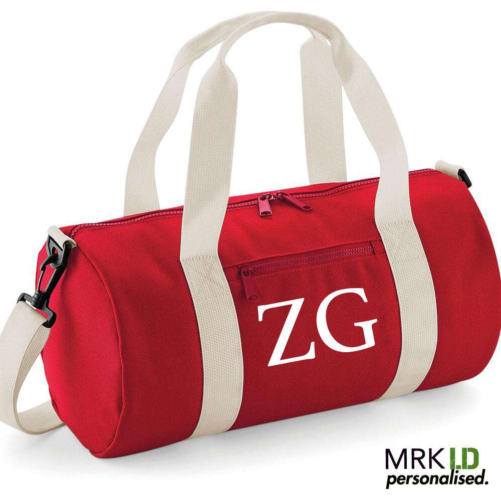 Personalised Initial Mini-Barrel Bag (MRK X)