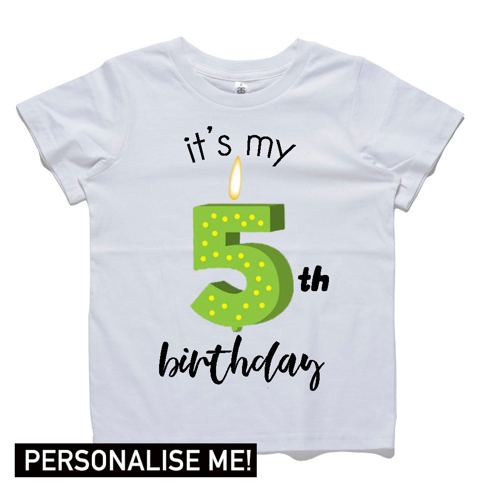 Personalised Birthday Candle Tees (MRK X)