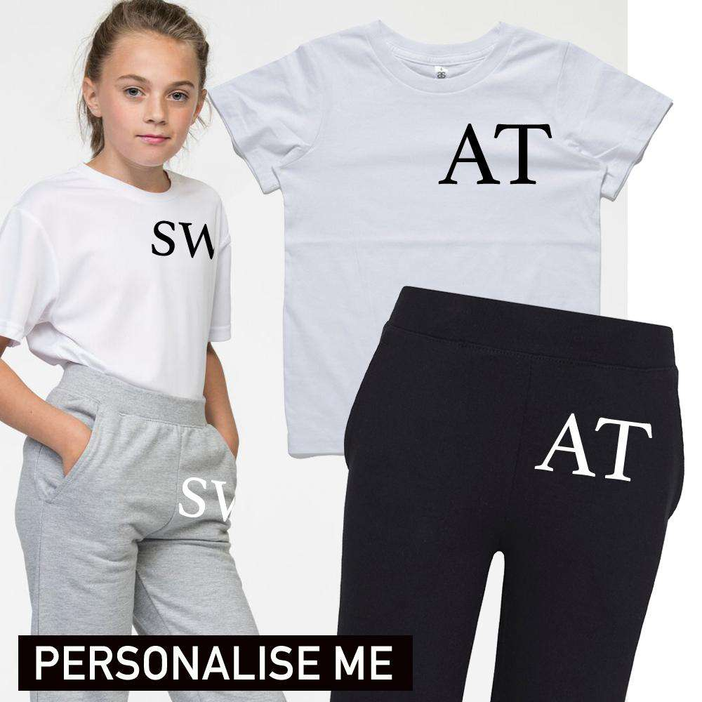 Personalised Lounge Tee & Jog Pant Set (3-13 Years) (MRK X)
