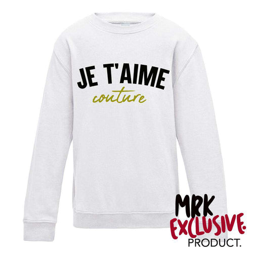 Je T'aime White Crew Sweater (3-13 Years) (MRK X)