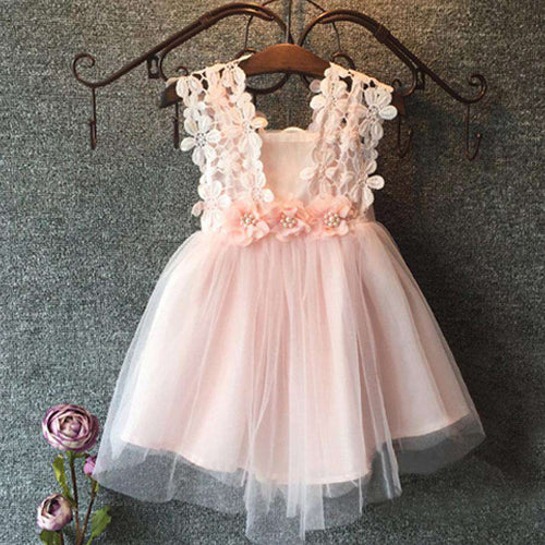 Kentucky Pearl Lace Dress Pink (1-6 Years)