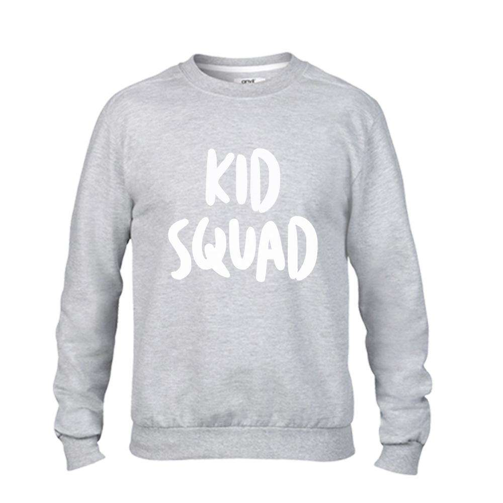 Mummy and Kid SQUAD Matching Light Grey Sweaters (MRK X)