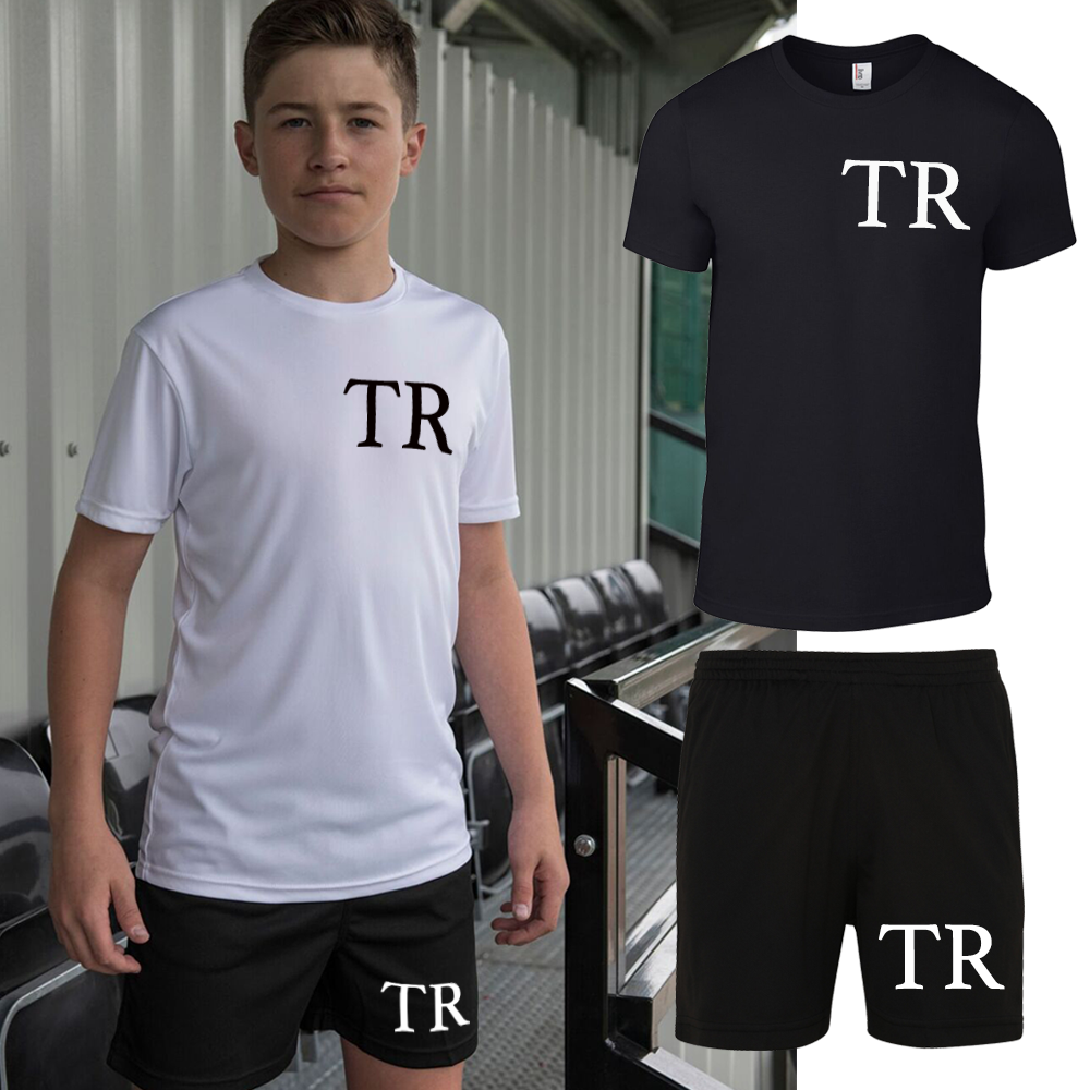 Personalised Initial Tee & Poly Short Set - Mix and Match (MRK X)