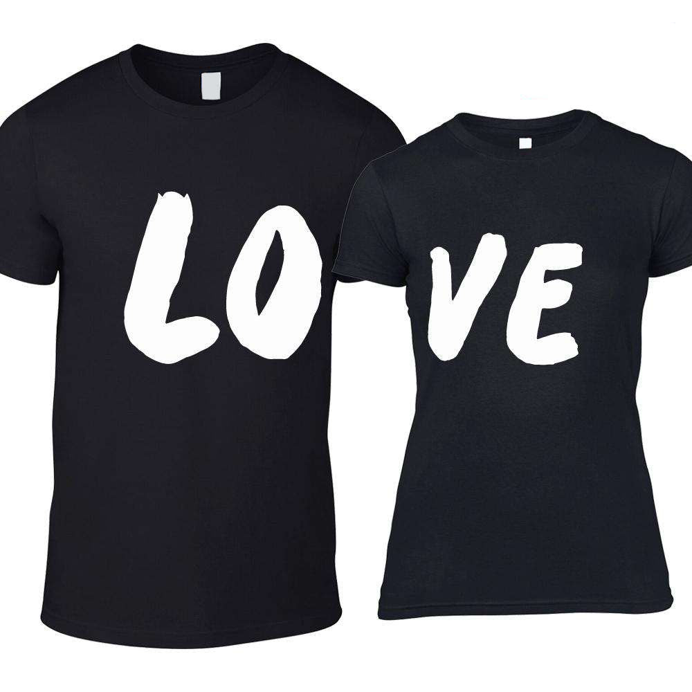 LO-VE Kids Matching Black Crew Tees (MRK X)