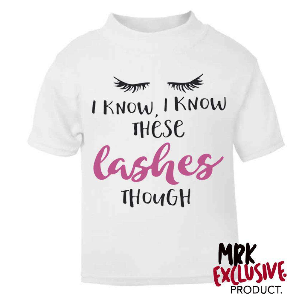 These Lashes Though White Tee (0-13 Years) (MRK X)
