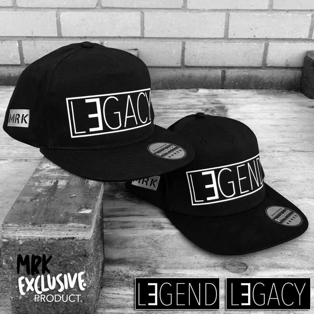 Legend/Legacy Matching Snapback Caps - Black (MRK X)