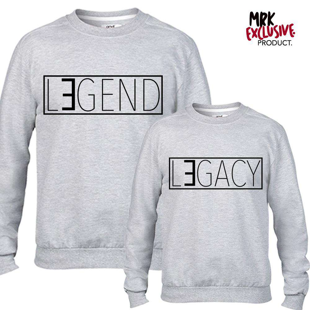 Legend/Legacy Matching Grey Sweatshirts (MRK X)