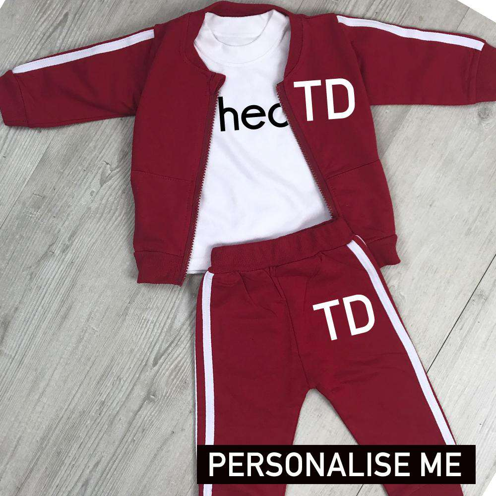 Personalised Leyton Infants Tracksuit & Tee 3 Piece Set (MRK X)