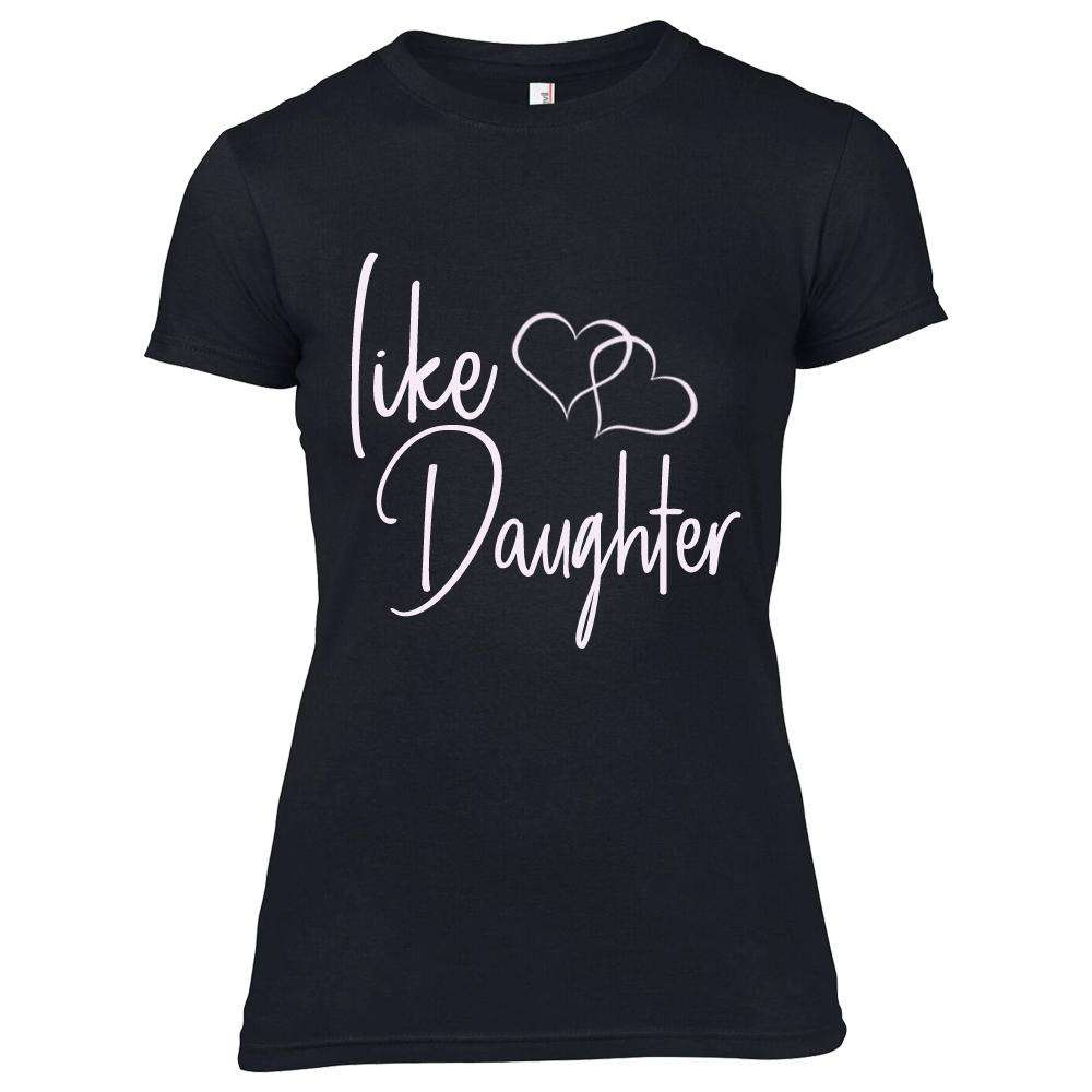 Like Mother/Like Daughter Matching Black Tees (MRK X)