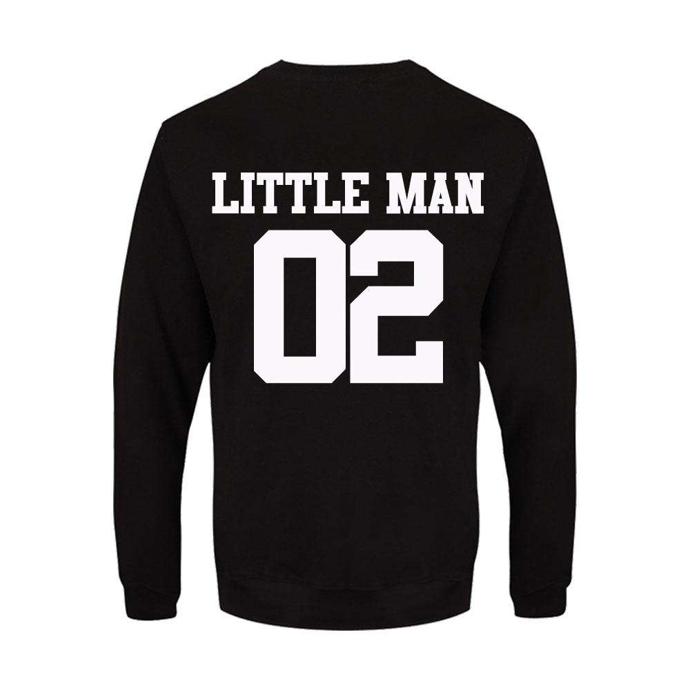 Big Man/Little Man Dad & Son Matching Black Sweatshirts (MRK X)
