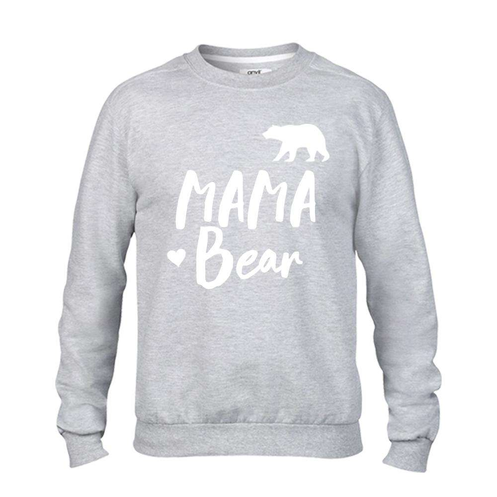 MAMA Bear & Baby Bear Matching Light Grey Sweaters (MRK X)