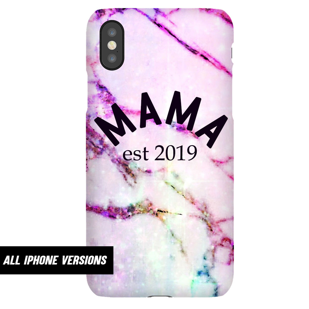 Personalised Mama Established Deep Marble Iphone Snap Phone Case (MRK X)