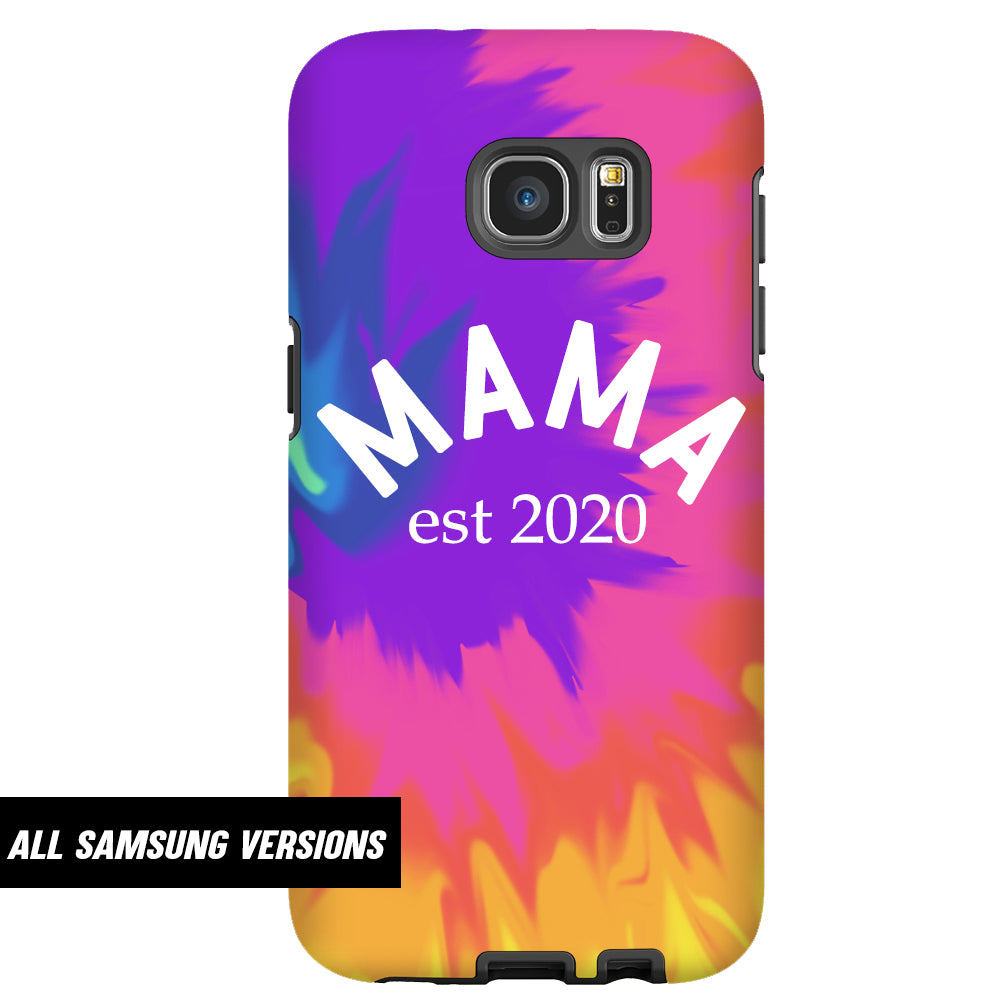 Personalised Mama Established Tie Dye Samsung Snap Phone Case (MRK X)