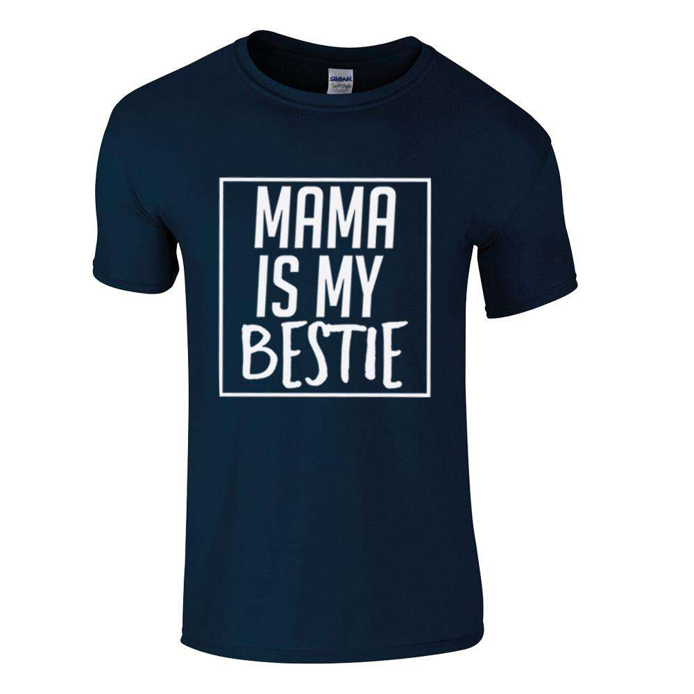 Mama is My Bestie Core Navy Tee 00 (MRK X)