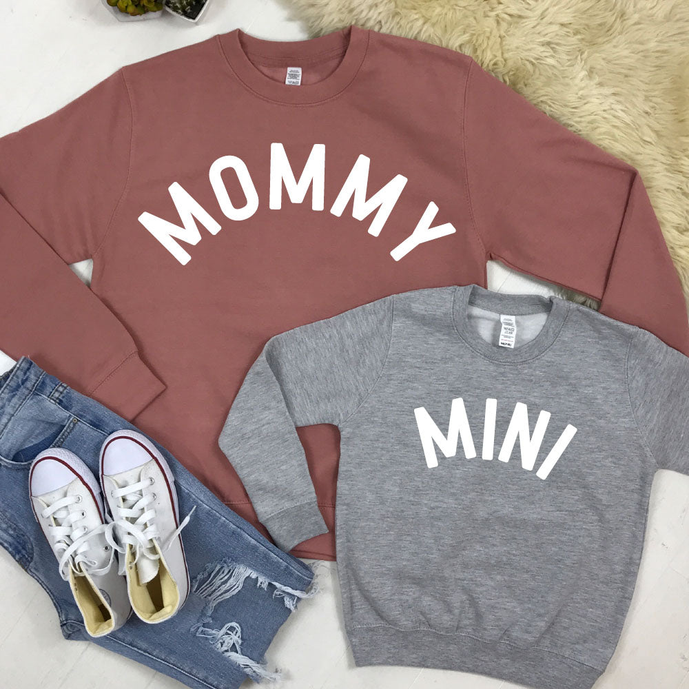 Mommy & Mini Mum & Kid Matching Sweatshirts (MRK X)
