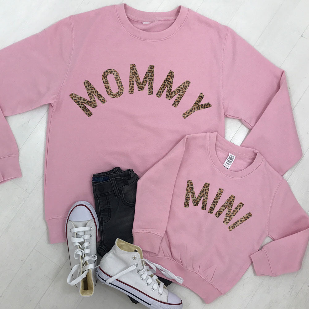 Mommy & Mini Mum & Kid Matching Leopard Sweatshirts (MRK X)