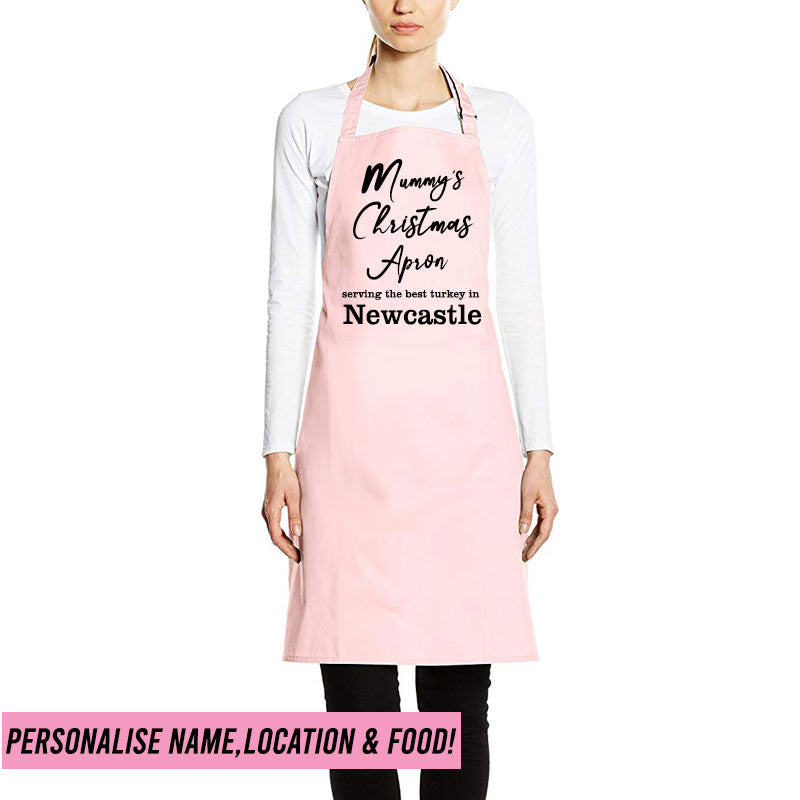 Personalised 'Serving The Best' Christmas Apron (MRK X)