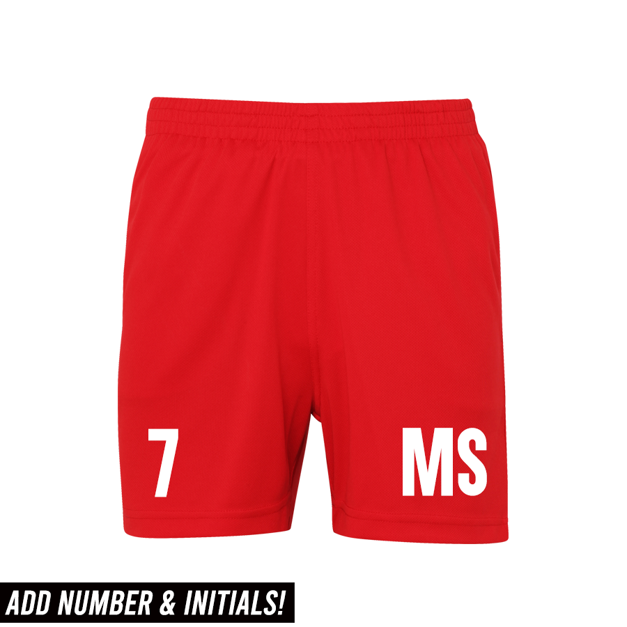 Personalised Glory Initial & Number Poly Short  (MRK X)