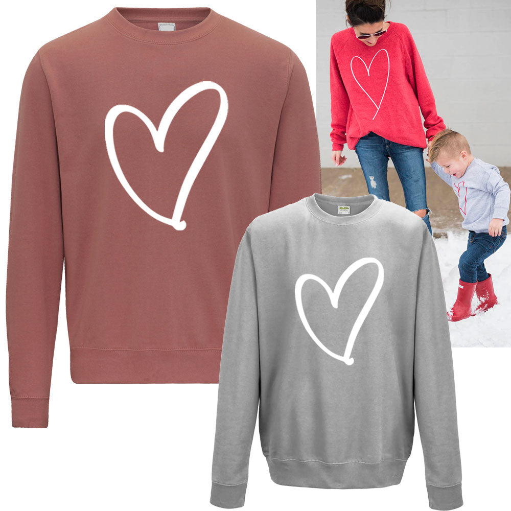 Heart Print Family Matching Sweaters (MRK X)