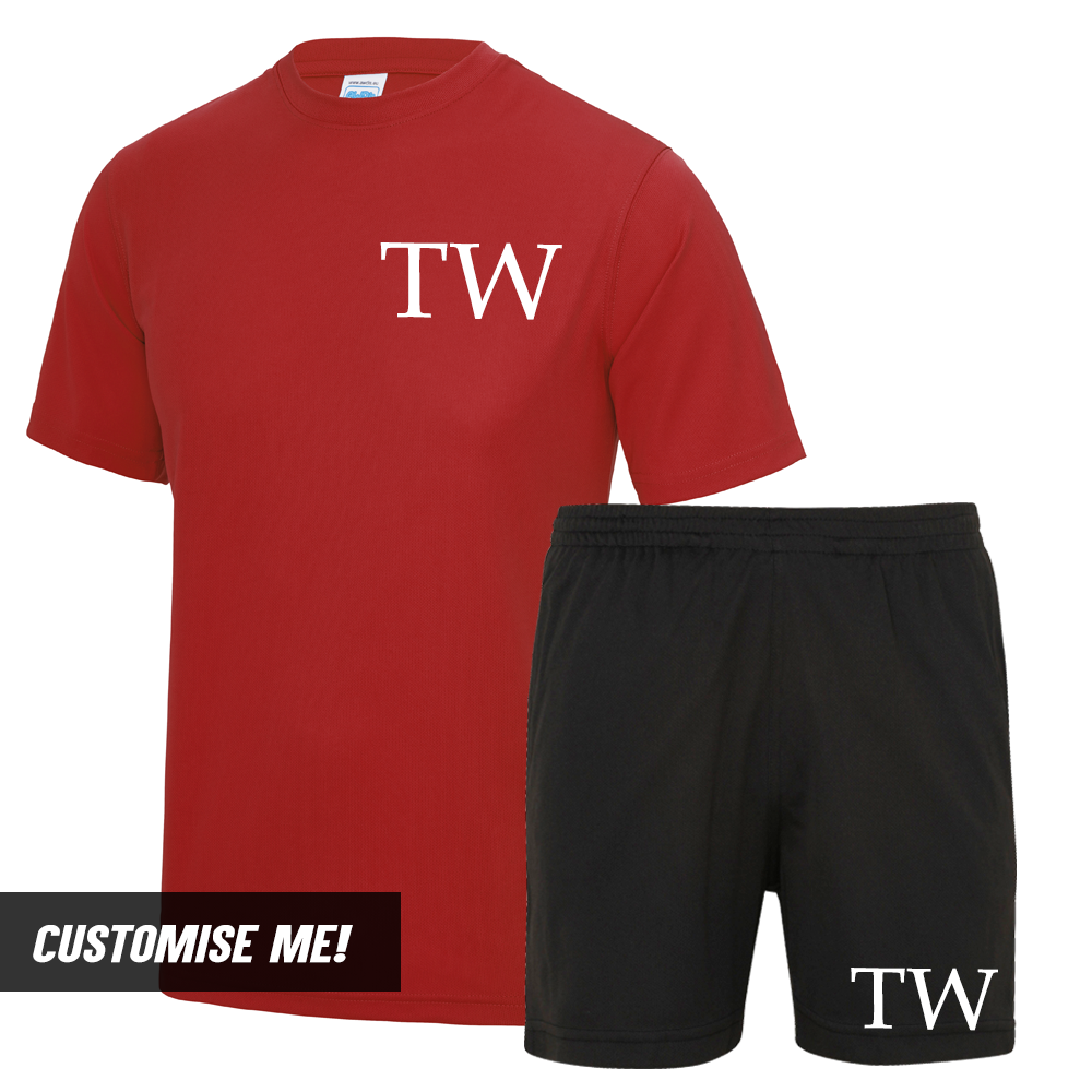 Personalised Initial Premier Poly T-Shirt & Short Set (MRK X)