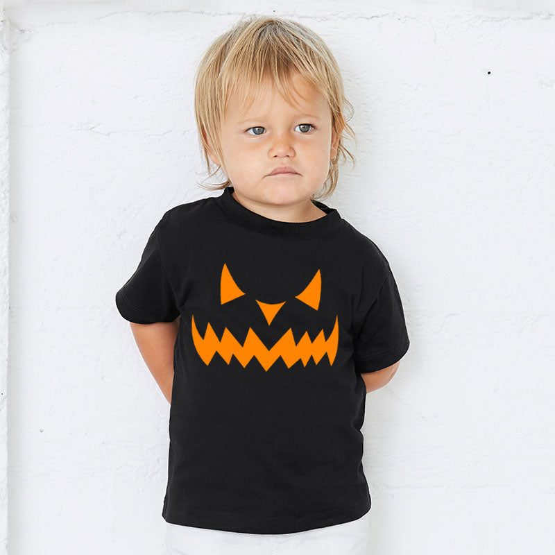 Pumpkin Face Family Matching T-Shirt - Black (MRK X)