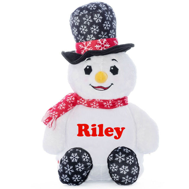 "Personalised 12"" Snowman Plush (MRK X)"