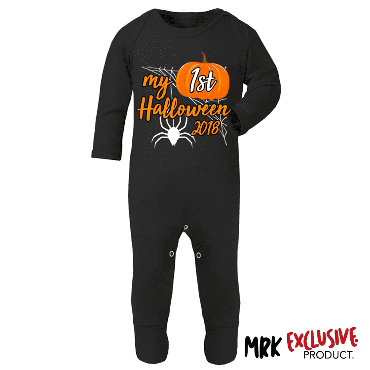 My 1st Halloween Romper - Black (MRK X)