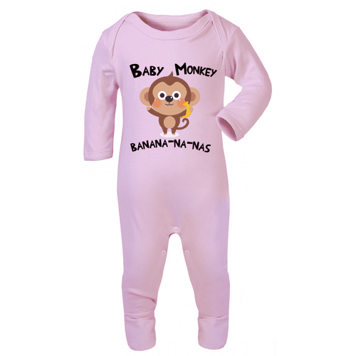 Baby Monkey Song - Long-Sleeved Rompersuits (MRK X)