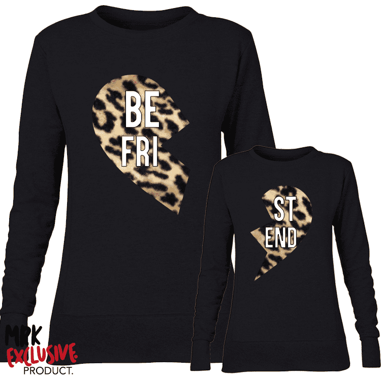 BE-ST Leopard Print Matching Black Sweaters (MRK X)