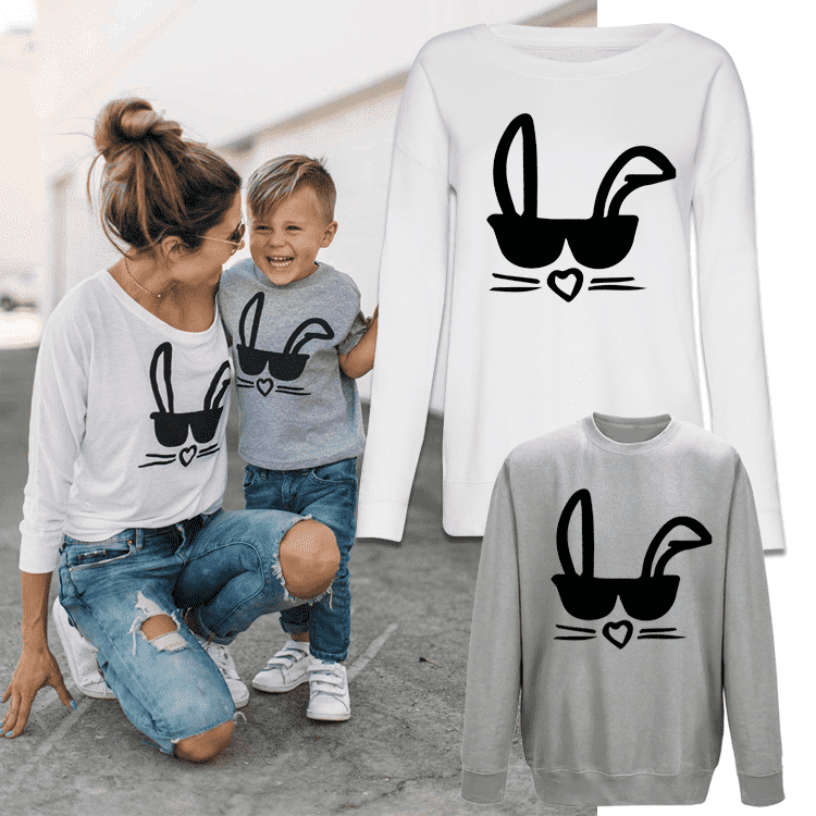 Cool Bunny Mummy & ME Matching Crew Sweats (MRK X)