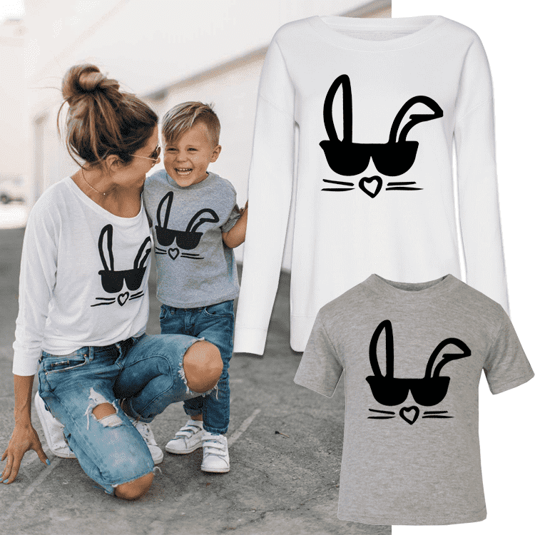 Cool Bunny Mummy & ME Matching Tops (MRK X)