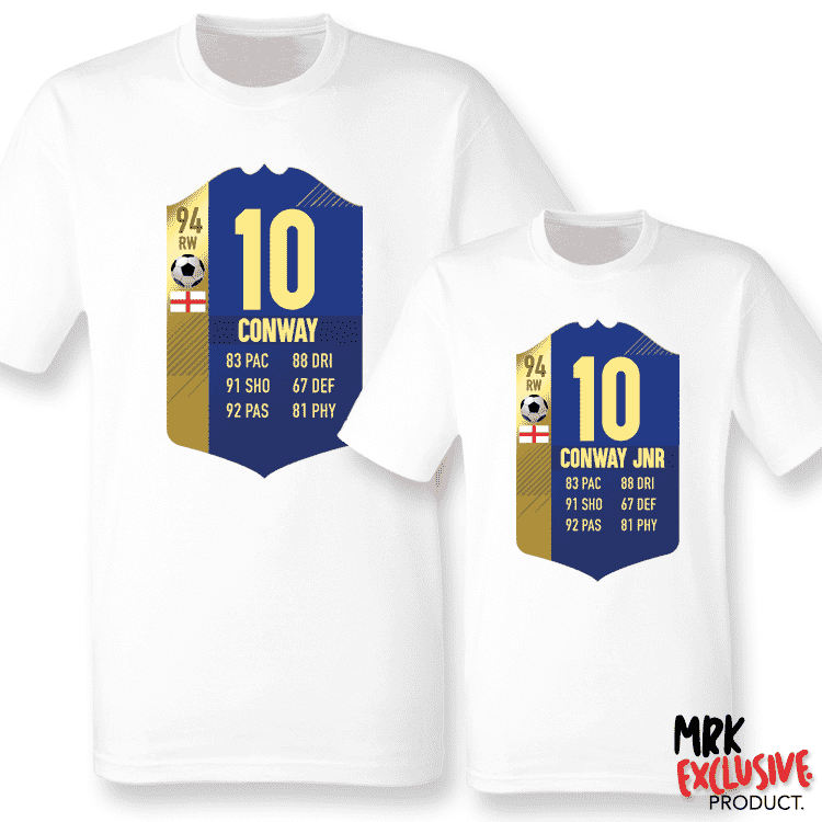 Personalised Football Ultimate Team Stats Matching Tees (MRK X)