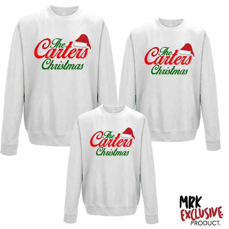 Christmas Family Matching Crew Sweats - White (MRK X)