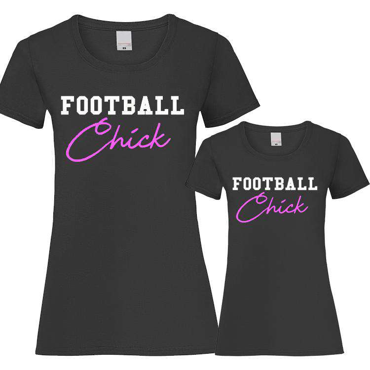 Football Chick Matching T-Shirts (MRK X)