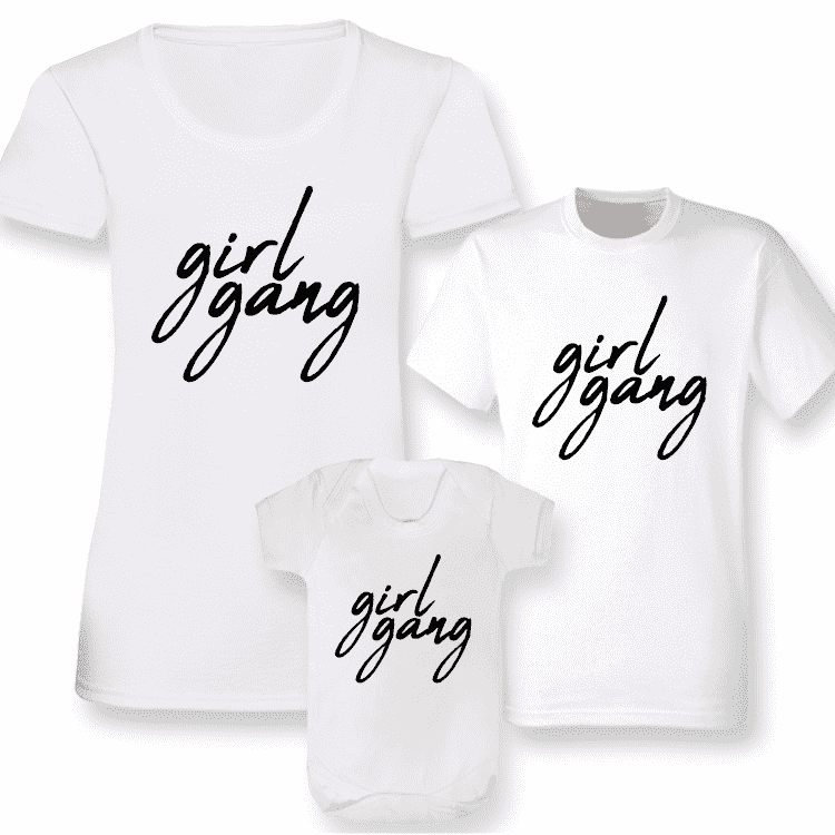 Girl Gang Women & Kids Matching Tee/Bodysuits 00 - White (MRK X)