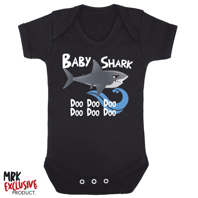 Shark Family - Baby Shark Bodysuit - Black (MRK X)