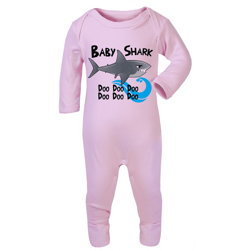 Shark Family - Baby Shark Long-Sleeved Rompersuits (MRK X)