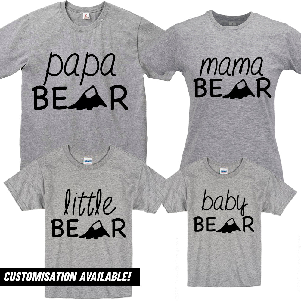 Bear Family Matching Grey T-Shirts (MRK X)