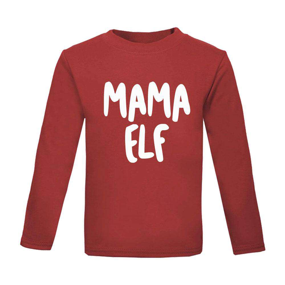 Elf Family Matching Adult & Kid Red Matching Tops (MRK X)