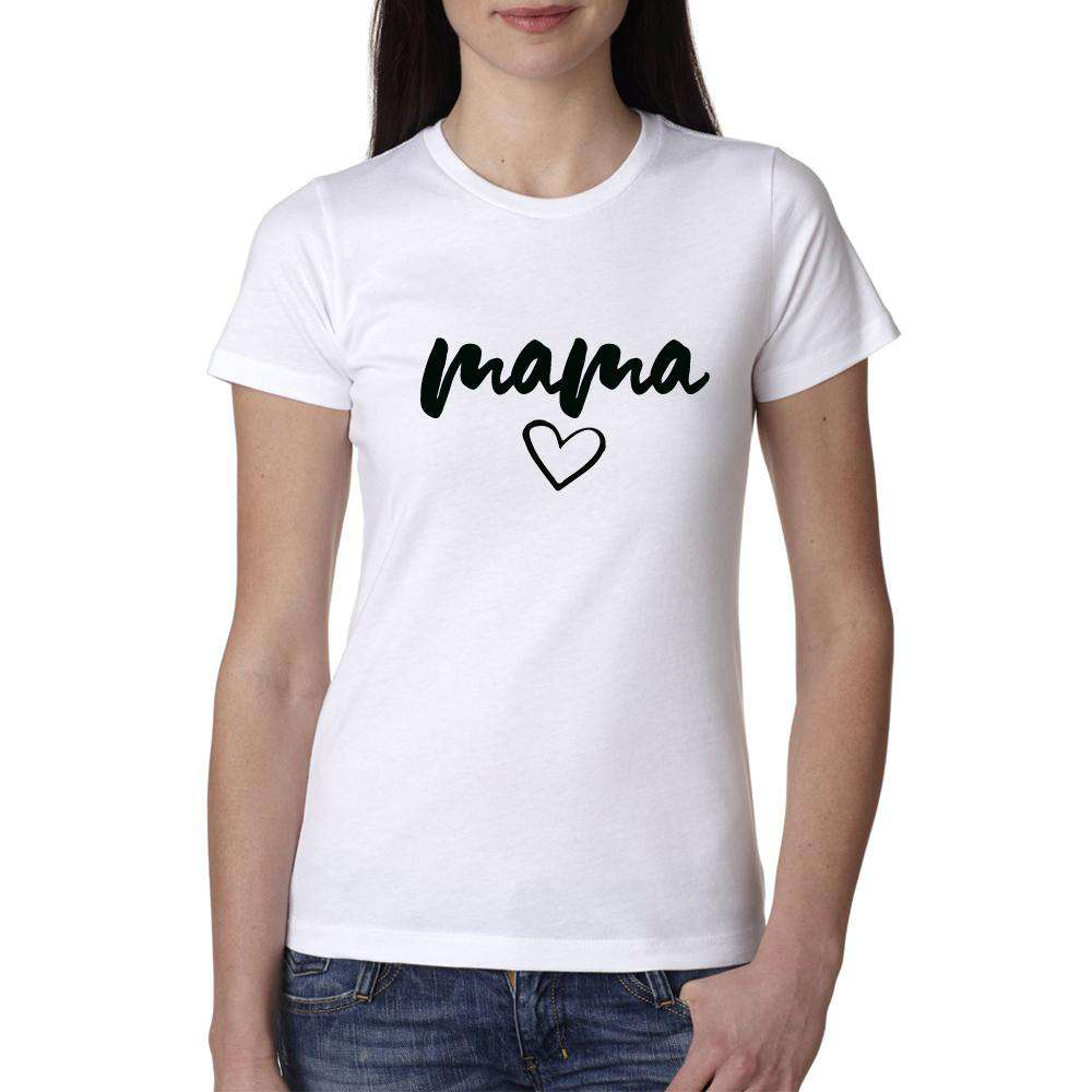 Mama/Mama's Mini Mum & Kid Matching White Tees (MRK X)