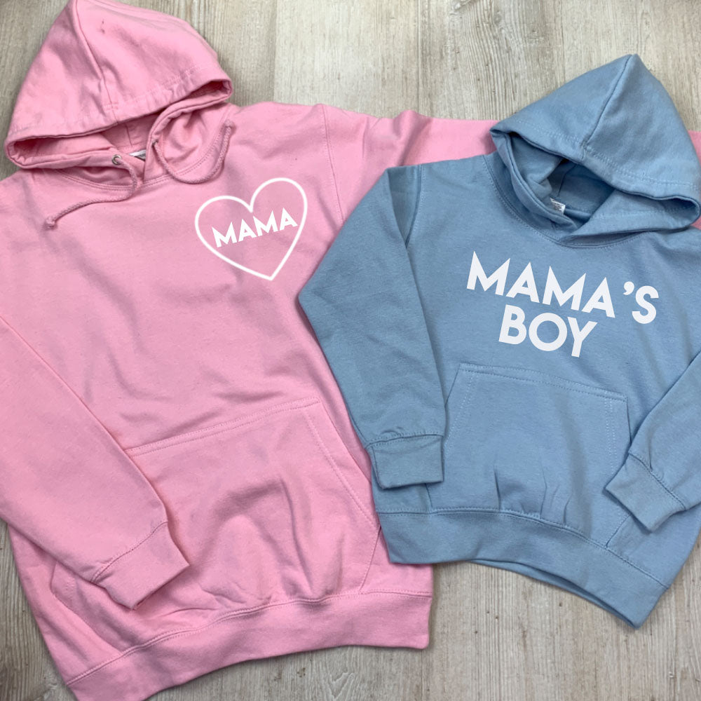 Mama & Mama's Boy Mum & Kid Matching Hoodies (MRK X)