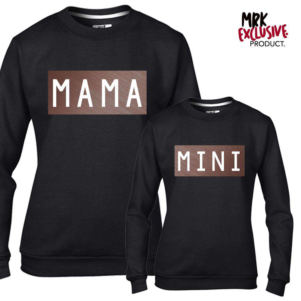 Mama & Mini Mum Matching Black/Rose Gold Sweaters (MRK X)