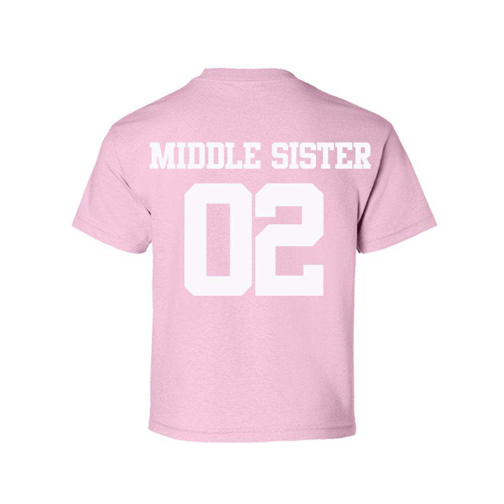 Big Sister/Middle Sister/Little Sister Light Pink Matching Tees (MRK X)
