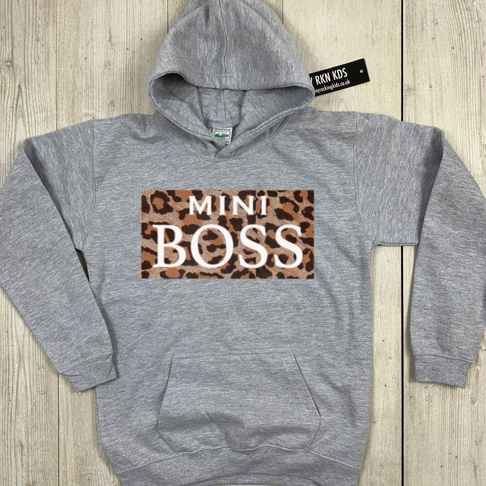 Mummy & Mini Boss Leopard Slogan Hoodies (MRK X)