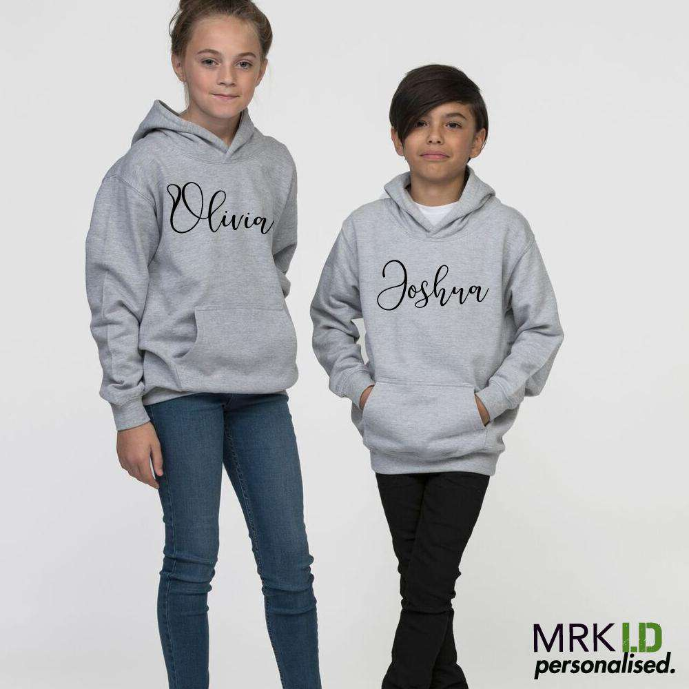 Personalised Mini Script Hoodies (MRK X)