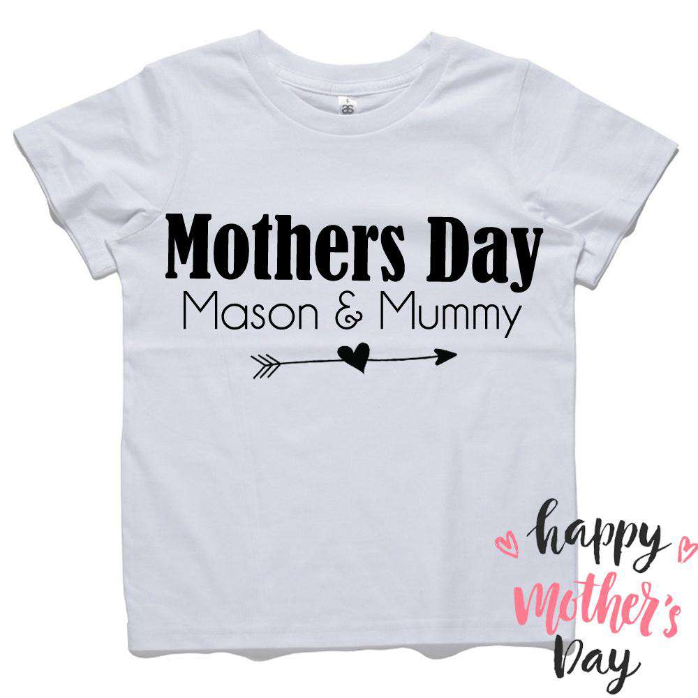 02ed607d Personalised Kid & Mummy Mothers Day Tee (MRK X) – My Rocking Kids